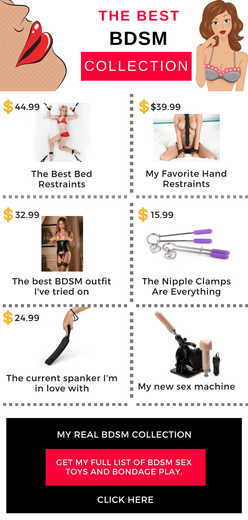 best bdsm gear infographic