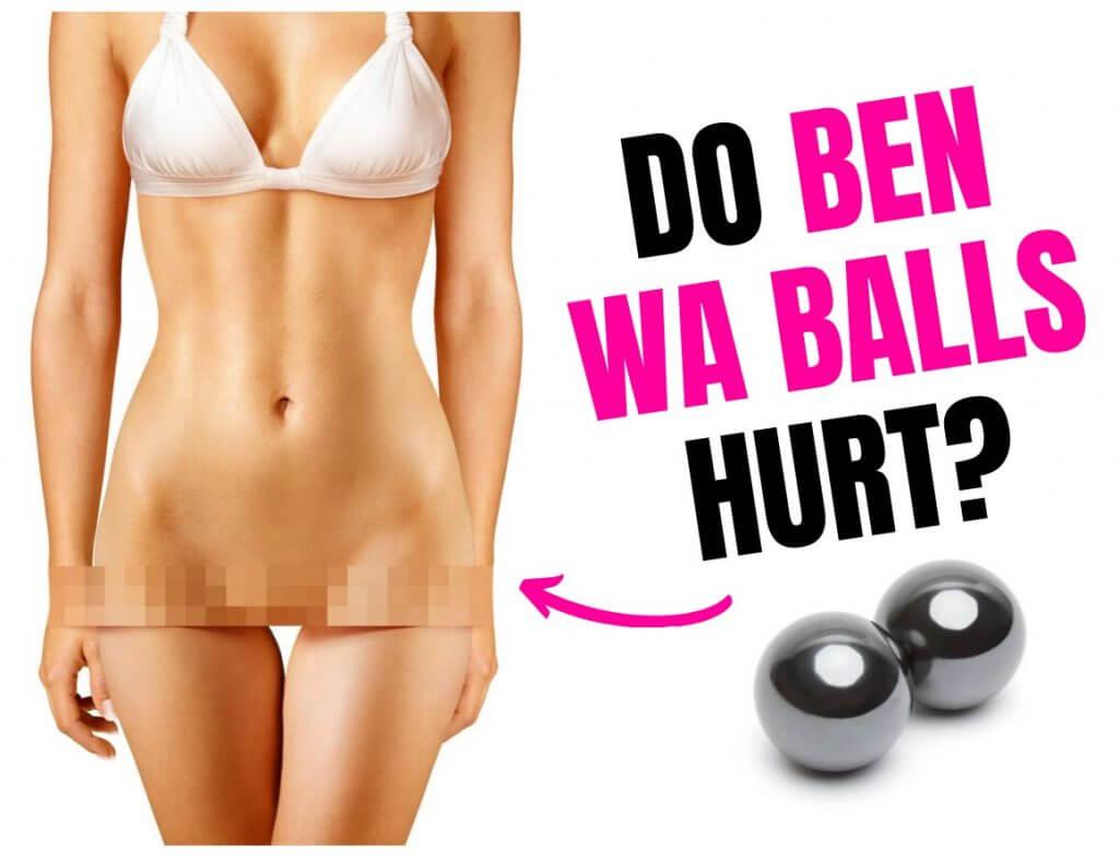 ben wa balls and female cartoon in white bra