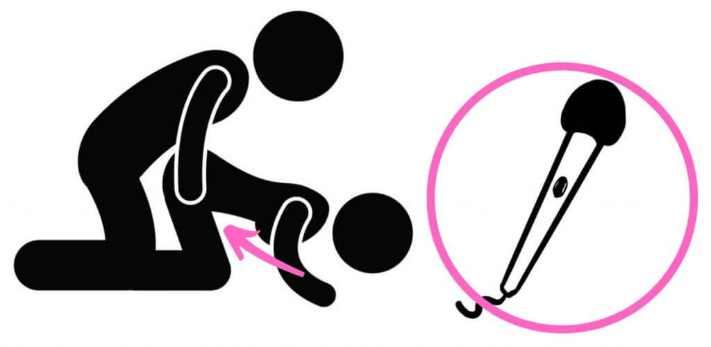 cartoon stickmen using vibrator
