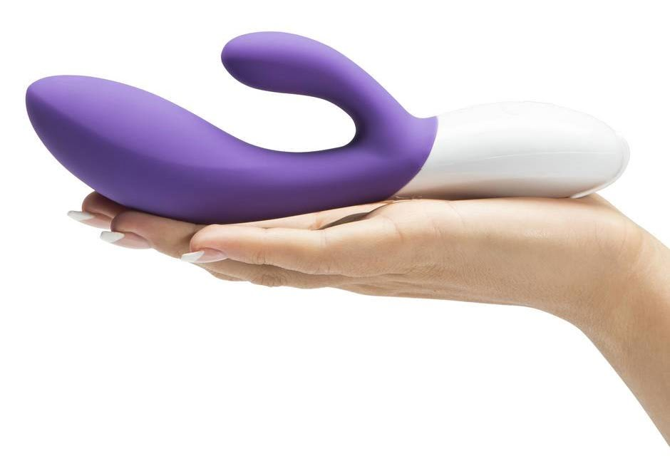 luxury vibrator in the hands of someone