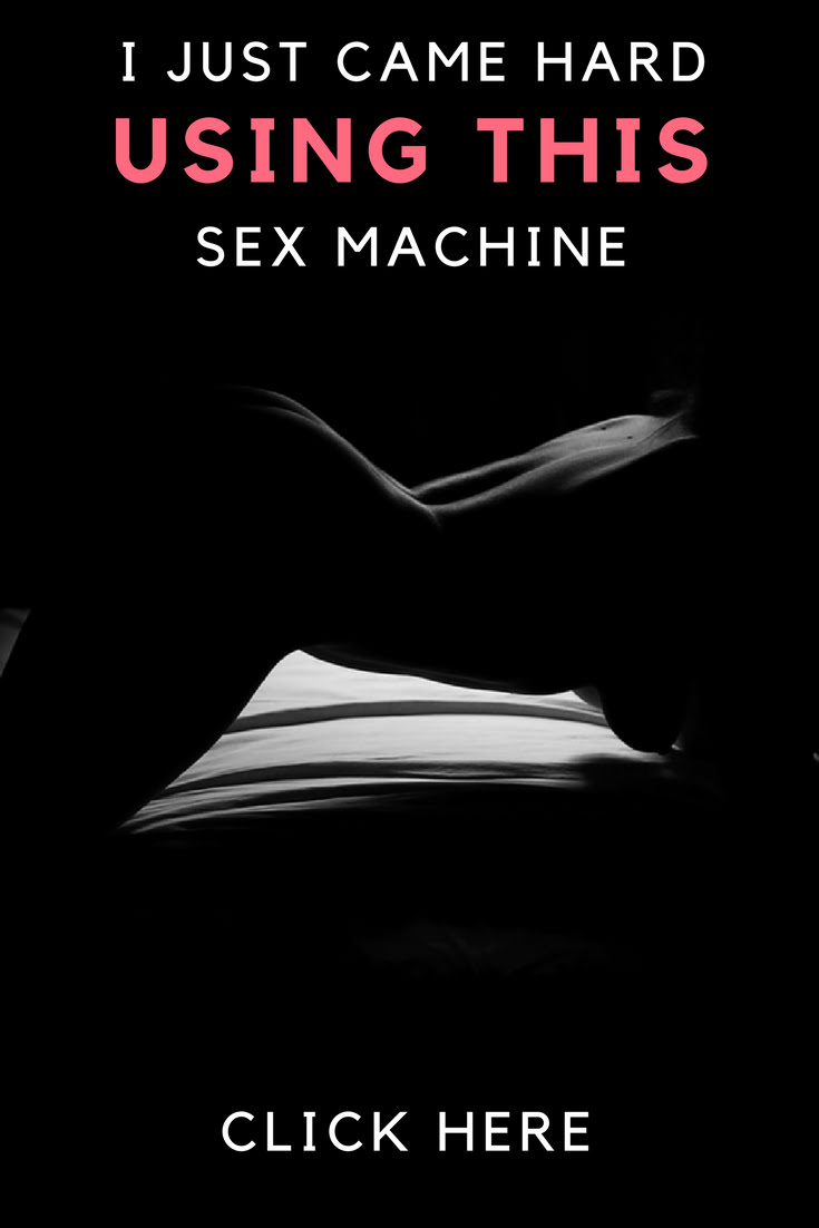 I just came hard using this sex machine pinterest image