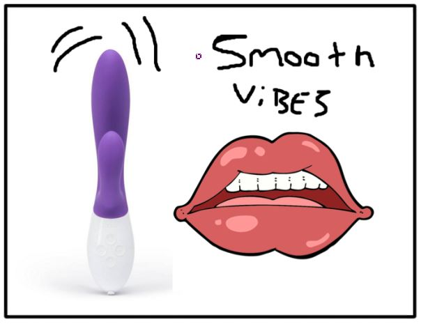 cartoon of smooth vibrations