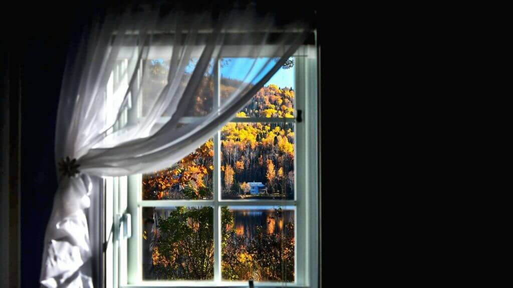 the window of my house overlooking the mountains