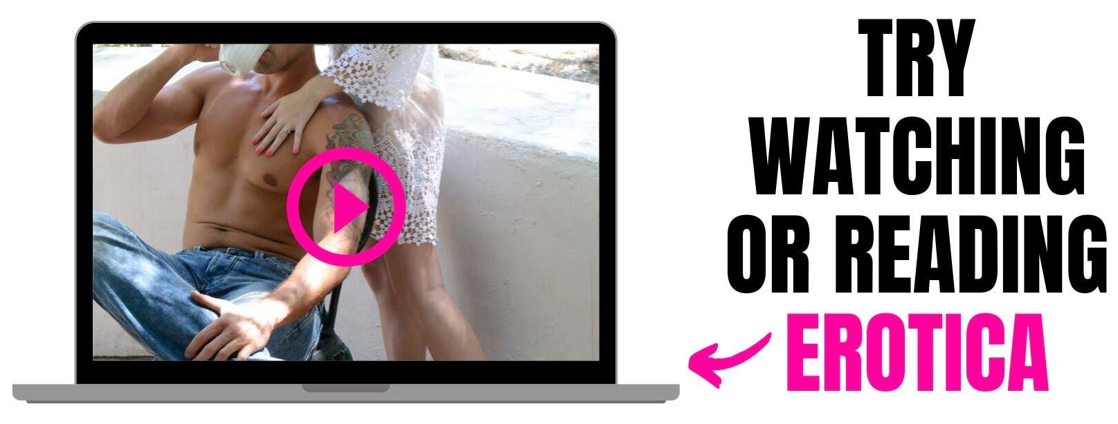 laptop playing an erotic scene