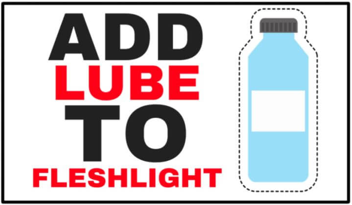 adding lube to fleshlight