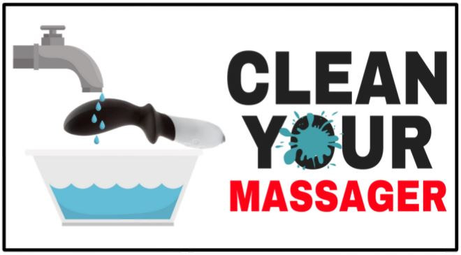 how to properly clean your prostate massager