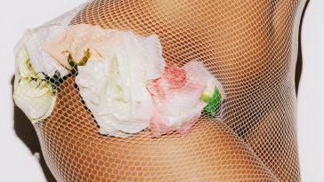 girl in flower lingerie