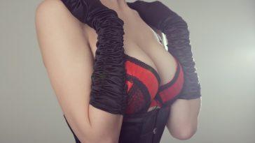 woman in corset