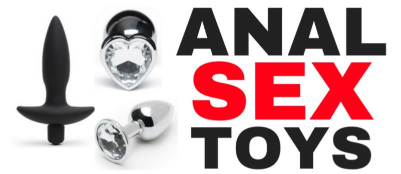 a collection of different anal sex toys
