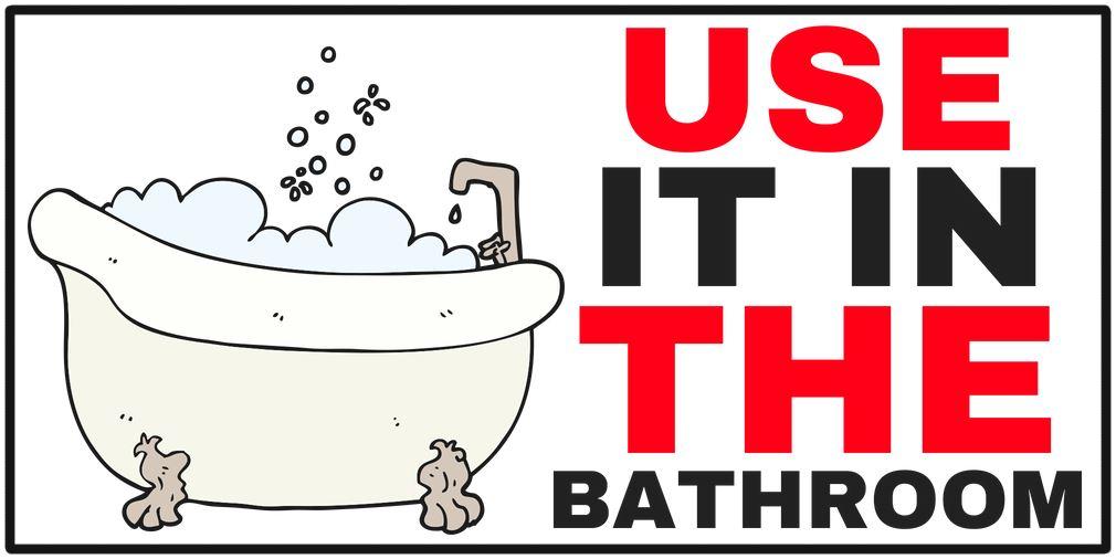 cartoon bath