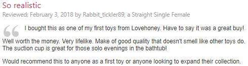 small dildo review