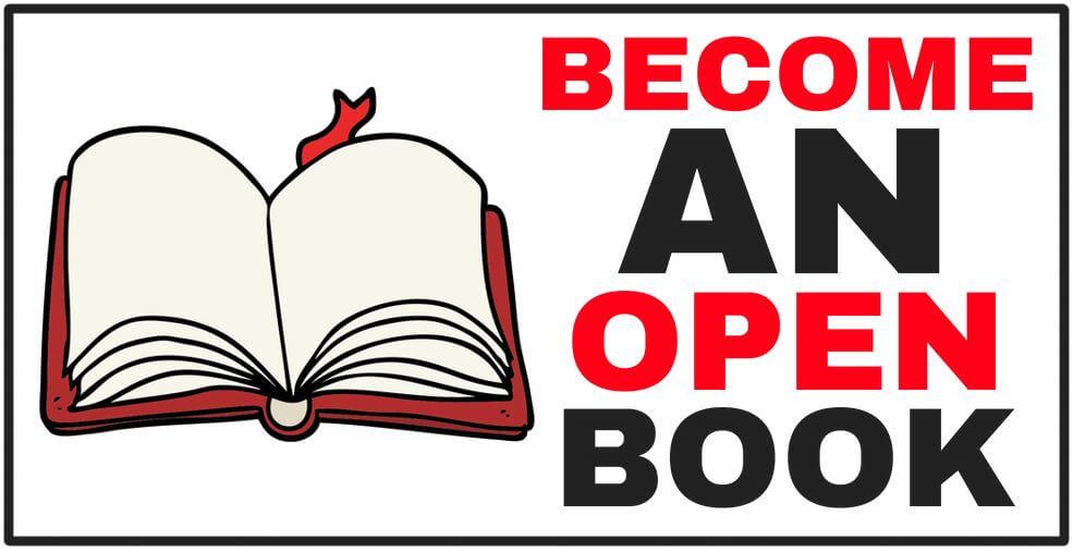 cartoon of an open book