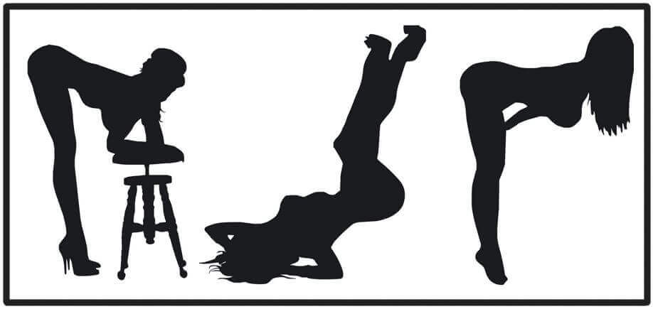 cartoon silhouette making lesbian sex positions
