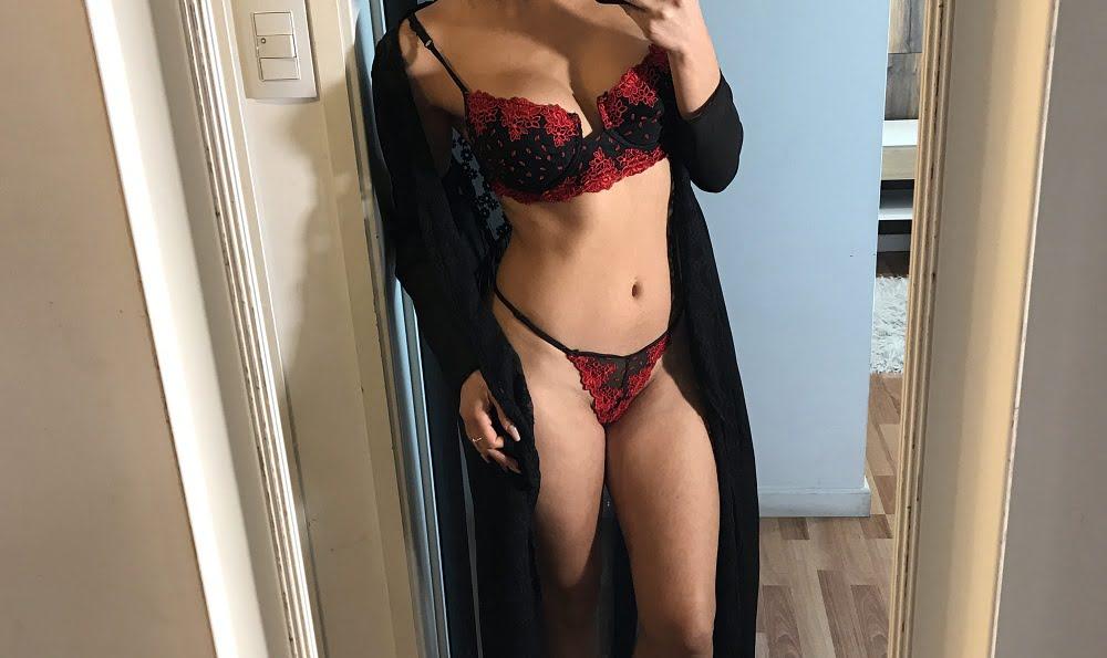 woman, take, sexy, selfie, mirror, flowery, lingerie, silk, dressing gown