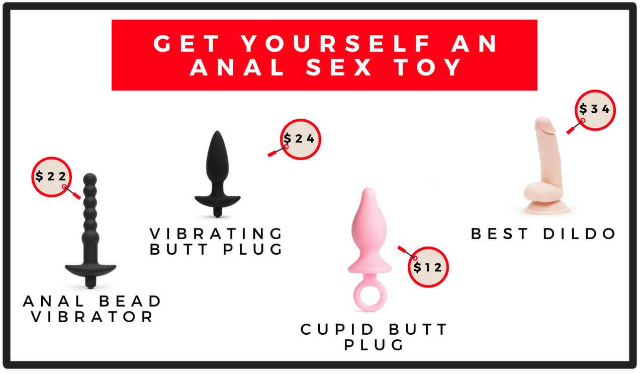 a selection of anal sex toys