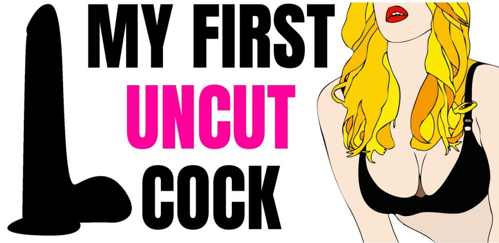 cartoon of uncut cock