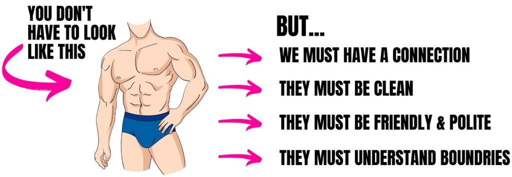 cartoon of male with nice muscles