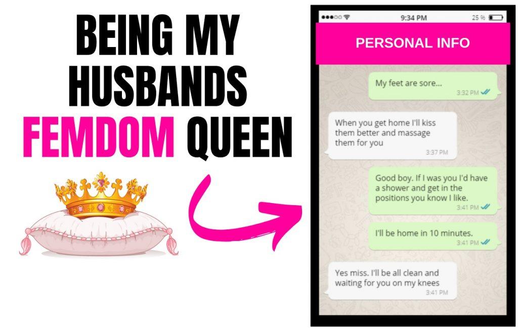 femdom texts with my husband