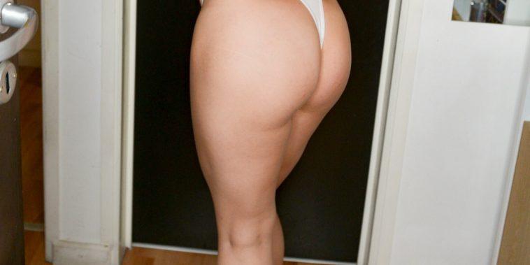 woman in white panties