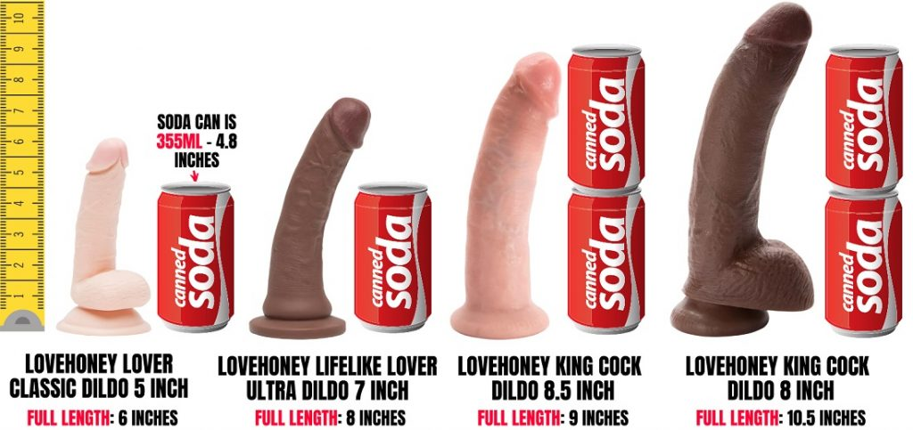 dildos compaired to a can of soda